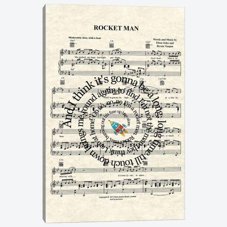Rocket Man Canvas Print #WAM30} by WordsAndMusicArt Canvas Artwork