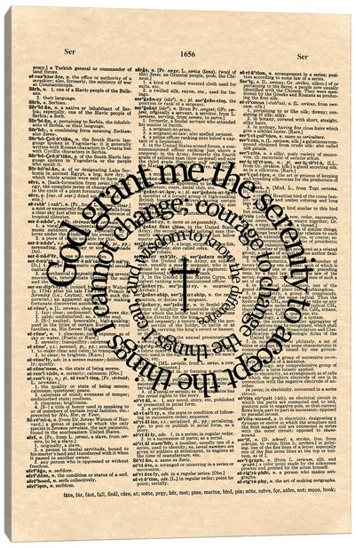 Serenity Prayer Canvas Art Print
