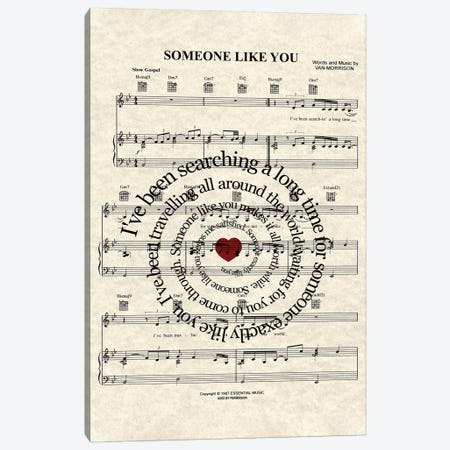 Someone Like You Canvas Print #WAM32} by WordsAndMusicArt Canvas Artwork