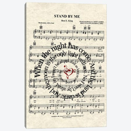 Stand By Me Canvas Print #WAM33} by WordsAndMusicArt Canvas Art