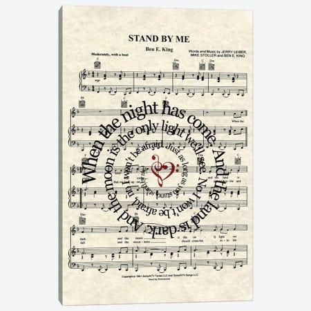 Stand By Me Canvas Print #WAM33} by WordsAndMusicArt Canvas Art