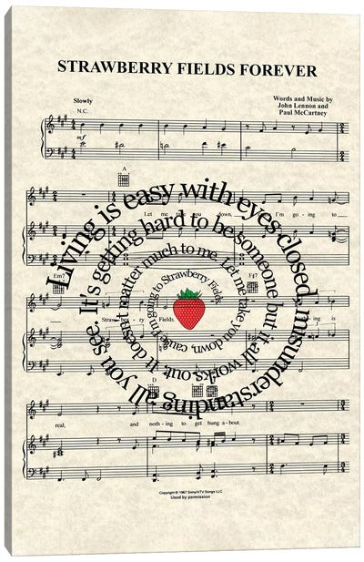 Strawberry Fields Forever Canvas Art Print