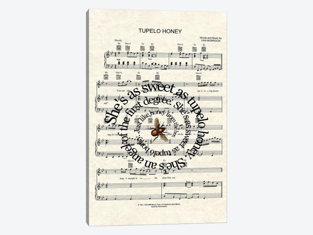 Tupelo Honey by WordsAndMusicArt 1-piece Art Print
