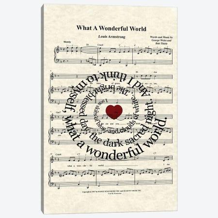 What A Wonderful World I Canvas Print #WAM40} by WordsAndMusicArt Art Print