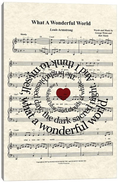 What A Wonderful World I Canvas Art Print