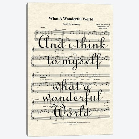What A Wonderful World II Canvas Print #WAM41} by WordsAndMusicArt Art Print