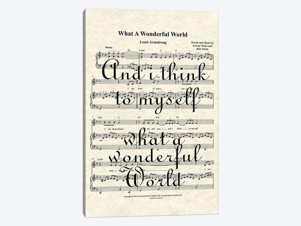 What A Wonderful World II by WordsAndMusicArt 1-piece Canvas Art