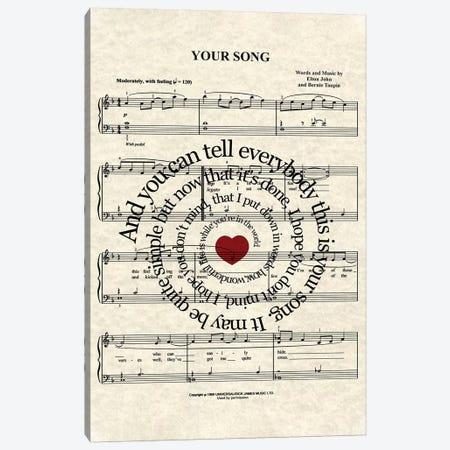 Your Song Canvas Print #WAM46} by WordsAndMusicArt Canvas Wall Art