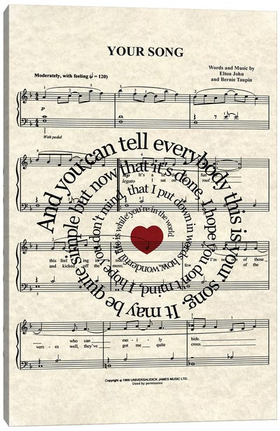 Your Song Canvas Art Print