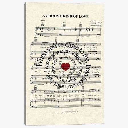 A Groovy Kind Of Love Canvas Print #WAM48} by WordsAndMusicArt Canvas Print