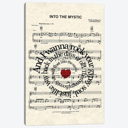 Into The Mystic - Red Heart Canvas Print #WAM66} by WordsAndMusicArt Canvas Artwork
