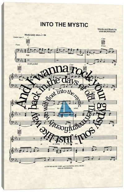 Into The Mystic - Blue Sail Boat Canvas Art Print