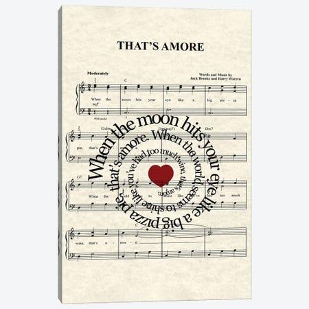 That's Amore Canvas Print #WAM75} by WordsAndMusicArt Art Print