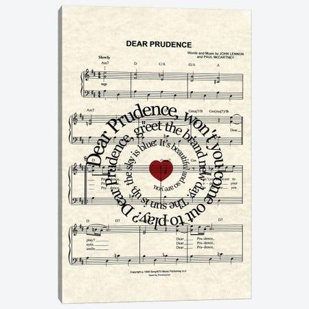 Dear Prudence Canvas Print #WAM7} by WordsAndMusicArt Canvas Art