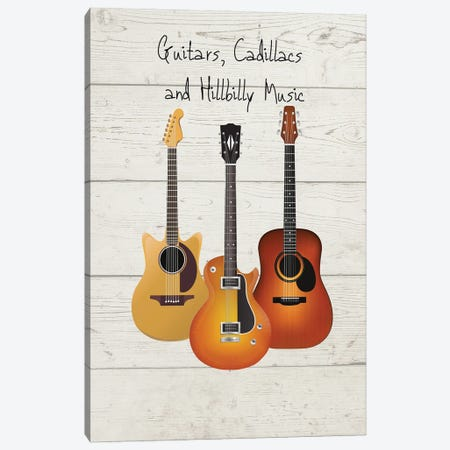 Guitars, Cadillacs And Hillbilly Music Canvas Print #WAM80} by WordsAndMusicArt Canvas Print