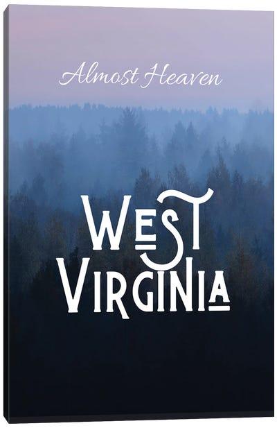 Almost Heaven West Virginia Canvas Art Print