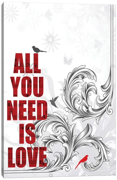 All You Need Is Love Poster Art Canvas Art Print