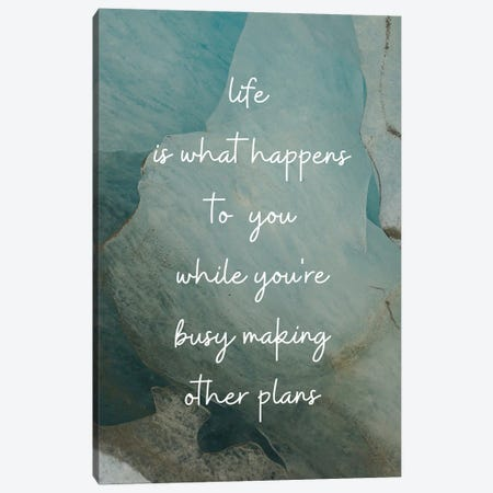 Life Is What Happens To You | John Lennon 3-Piece Canvas #WAM93} by WordsAndMusicArt Canvas Wall Art