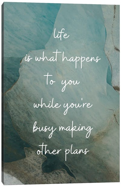 Life Is What Happens To You | John Lennon Canvas Art Print