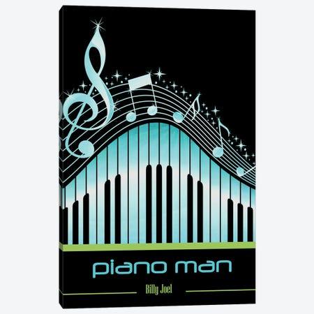Piano Man Poster Art Canvas Print #WAM94} by WordsAndMusicArt Canvas Art Print