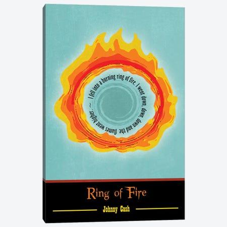 Ring Of Fire Poster Art Canvas Print #WAM95} by WordsAndMusicArt Art Print