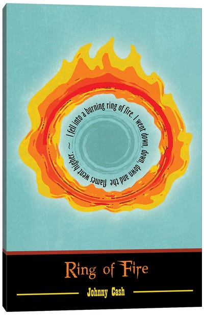 Ring Of Fire Poster Art Canvas Art Print