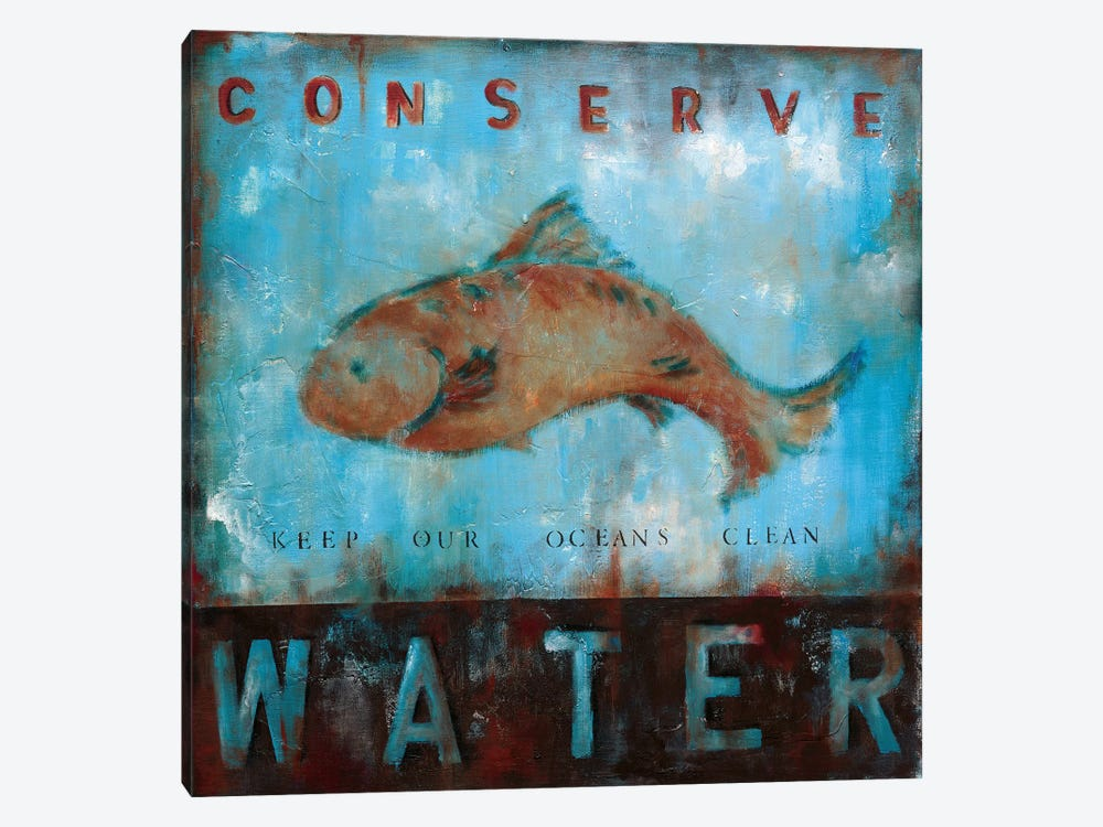 Conserve Water by Wani Pasion 1-piece Canvas Art