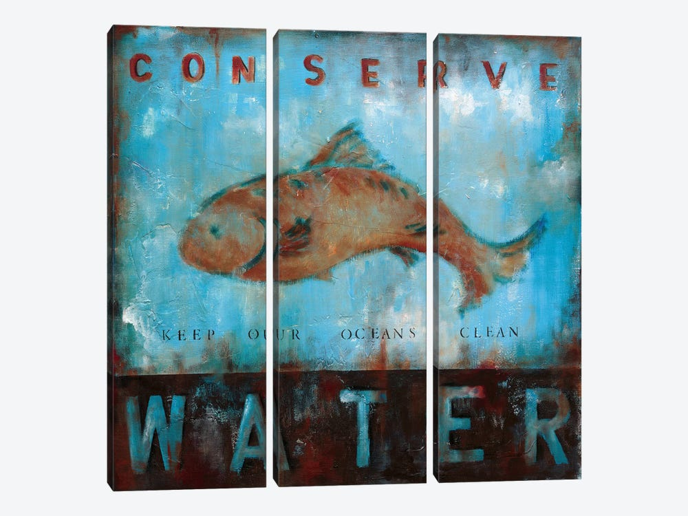 Conserve Water by Wani Pasion 3-piece Canvas Wall Art