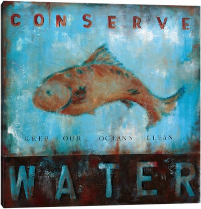 Conserve Water Canvas Art Print