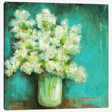 Crystal Hydrangea Canvas Print #WAN11} by Wani Pasion Canvas Art Print