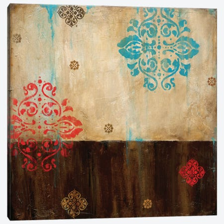 Damask Patterns I Canvas Print #WAN15} by Wani Pasion Canvas Wall Art