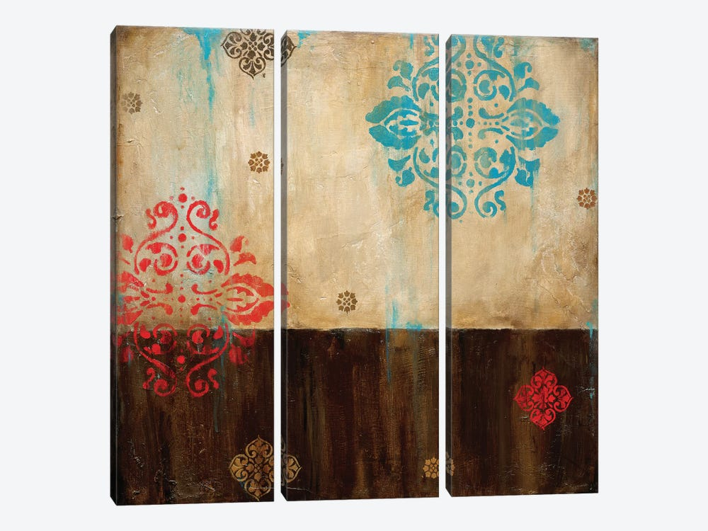 Damask Patterns I by Wani Pasion 3-piece Canvas Print