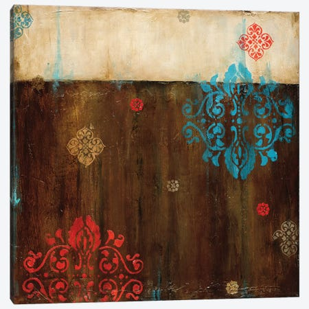 Damask Patterns II Canvas Print #WAN16} by Wani Pasion Canvas Artwork