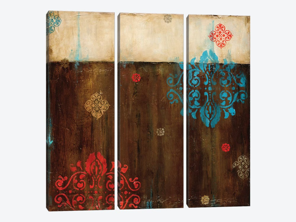 Damask Patterns II by Wani Pasion 3-piece Canvas Wall Art