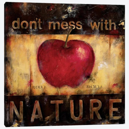 Don't Mess With Nature Canvas Print #WAN19} by Wani Pasion Canvas Art Print