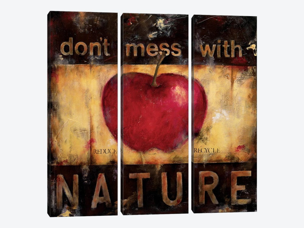 Don't Mess With Nature by Wani Pasion 3-piece Canvas Art Print