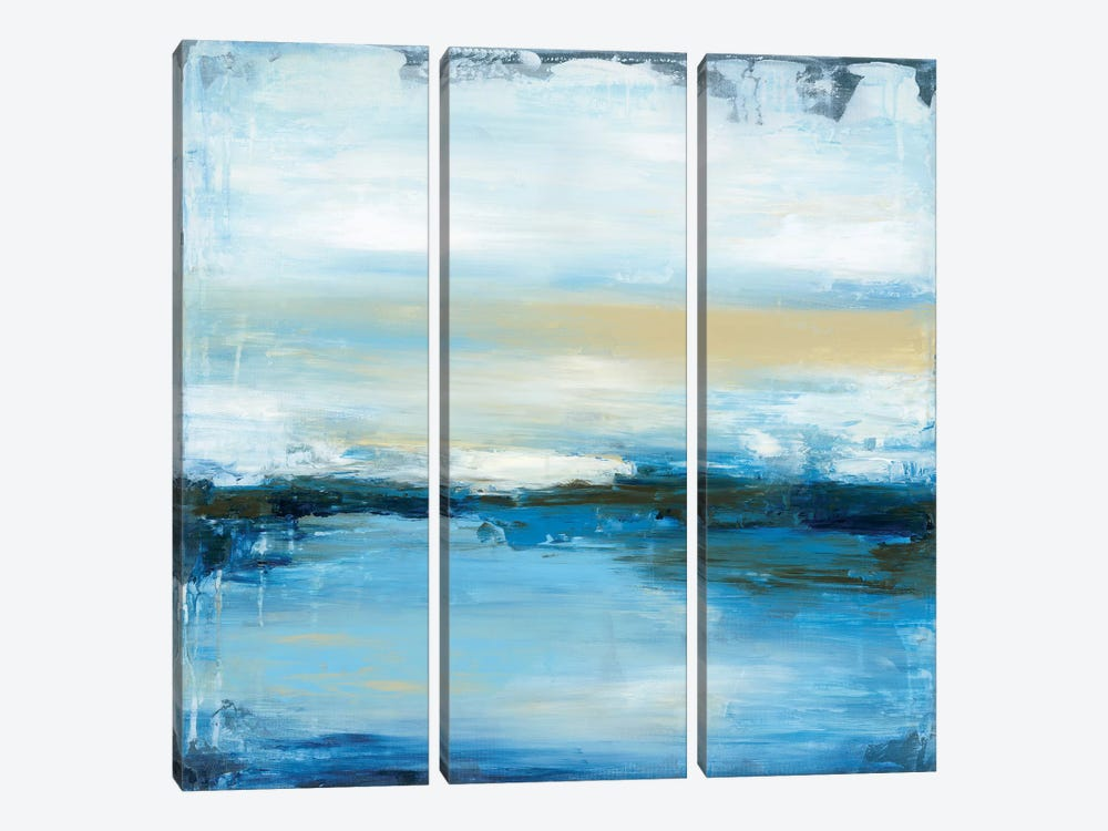 Dreaming Blue II by Wani Pasion 3-piece Canvas Art