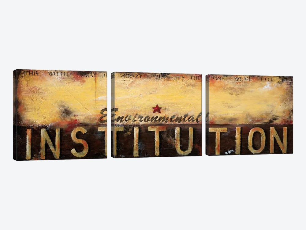 Environmental Institution by Wani Pasion 3-piece Canvas Art