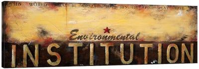 Environmental Institution Canvas Art Print