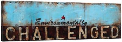 Environmentally Challenged Canvas Art Print