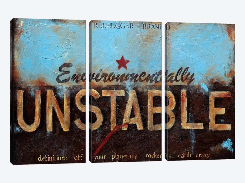 Environmentally Unstable by Wani Pasion 3-piece Canvas Art