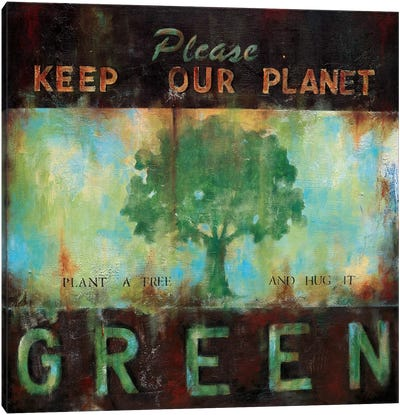 Green Planet Canvas Art Print