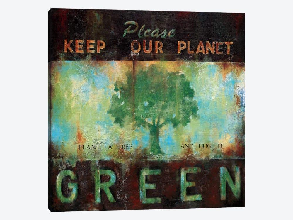 Green Planet by Wani Pasion 1-piece Canvas Wall Art