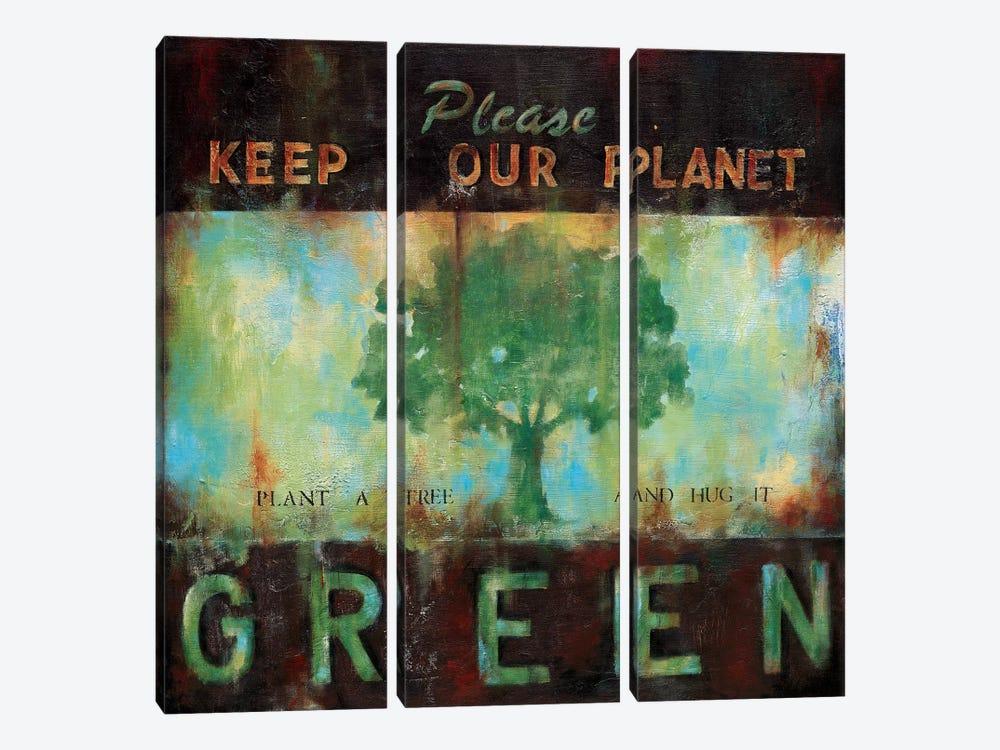 Green Planet by Wani Pasion 3-piece Canvas Art