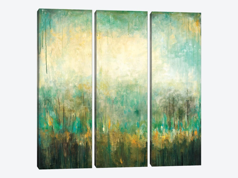 Jardin Vert by Wani Pasion 3-piece Canvas Wall Art
