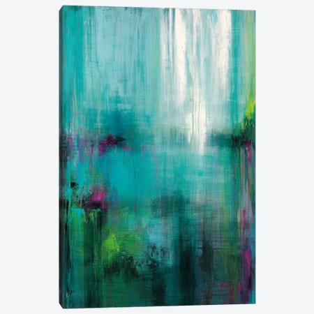 Lily Reflections Canvas Print #WAN39} by Wani Pasion Canvas Art Print