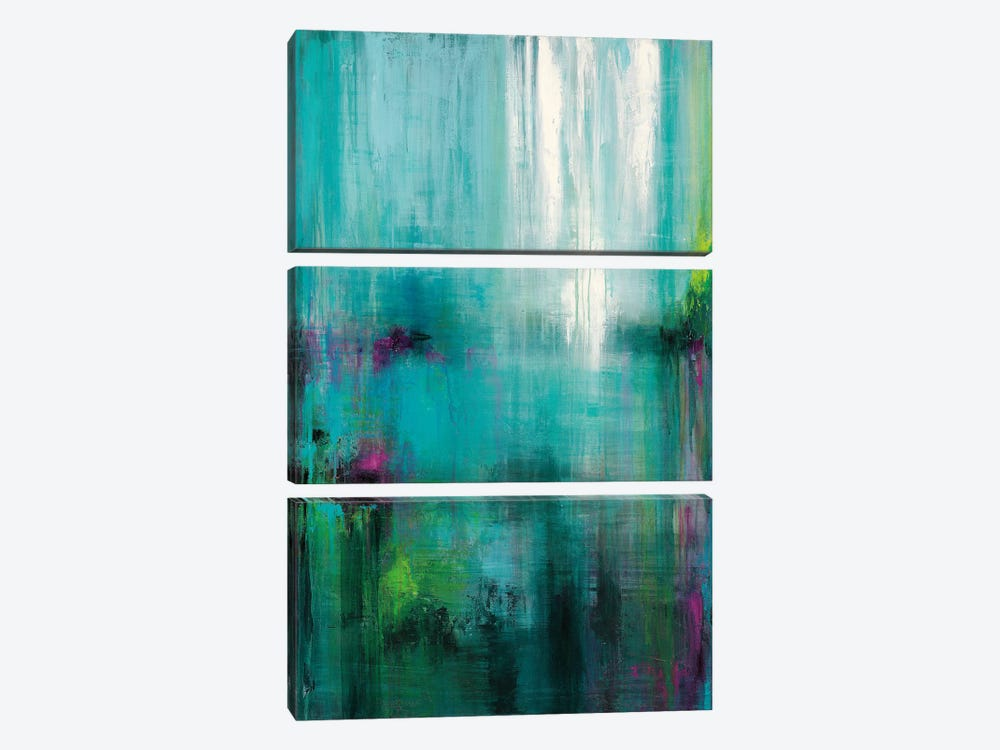Lily Reflections 3-piece Canvas Art Print