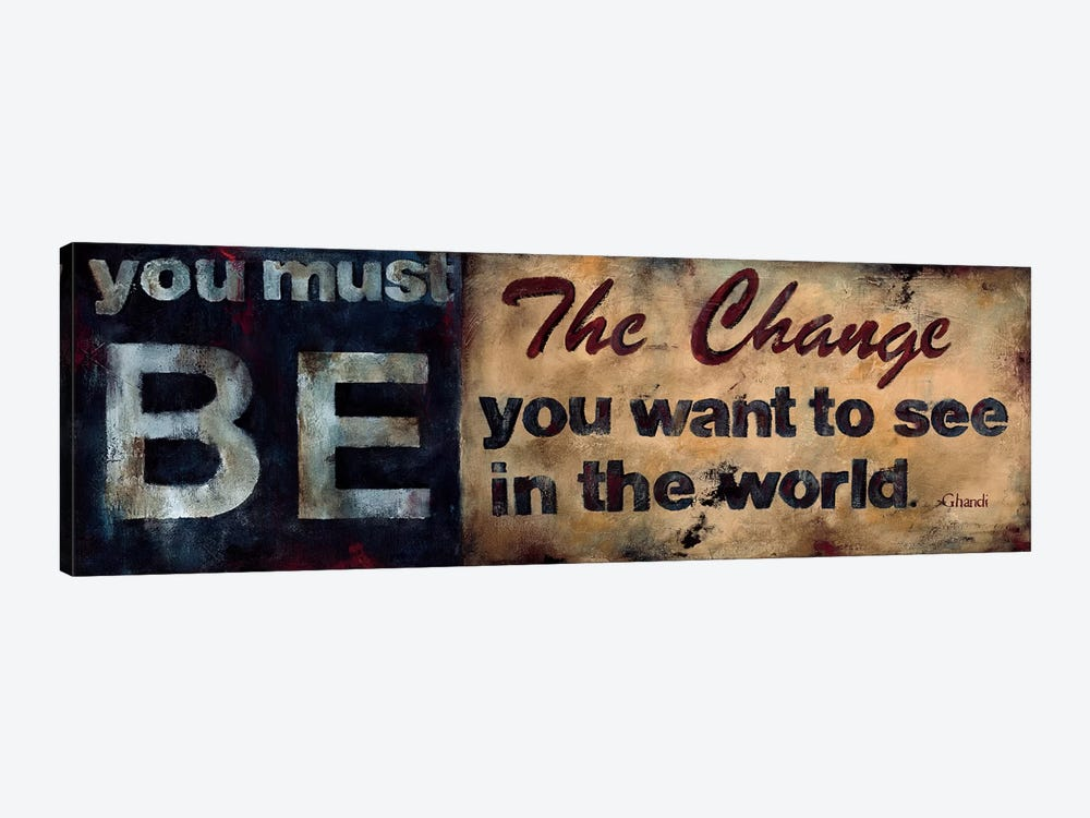Be The Change by Wani Pasion 1-piece Canvas Art Print