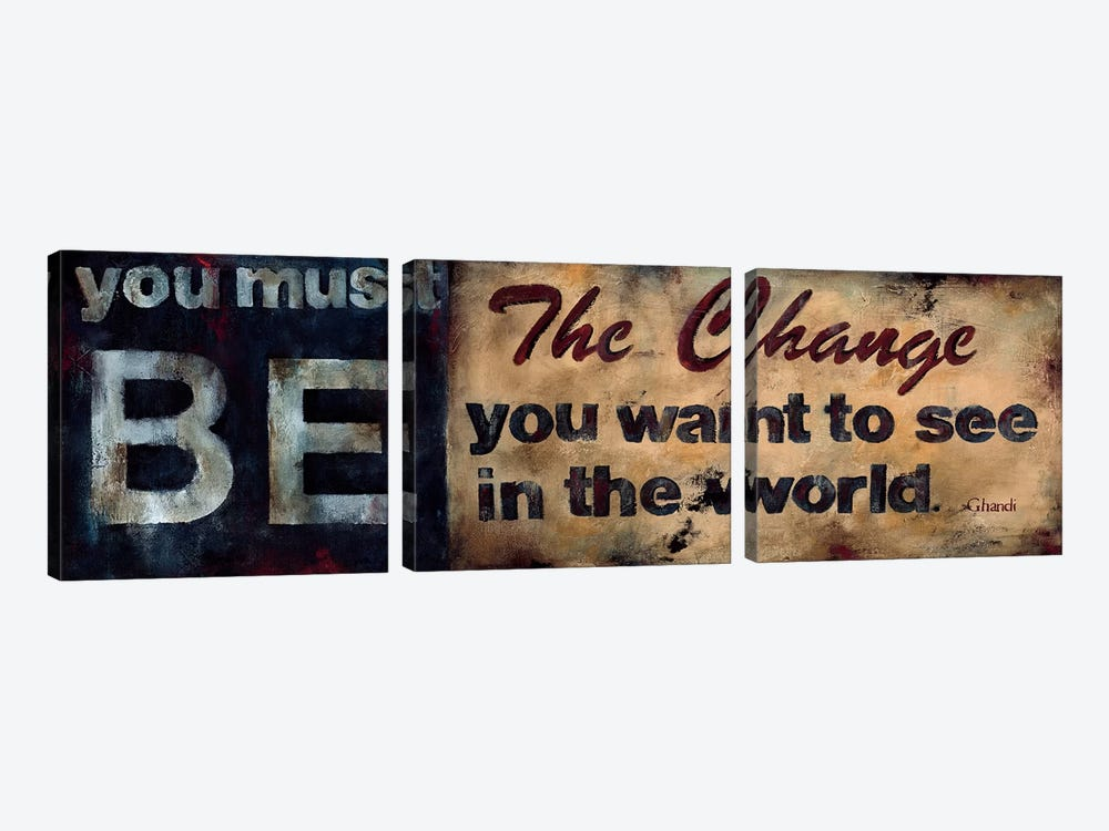 Be The Change by Wani Pasion 3-piece Canvas Art Print