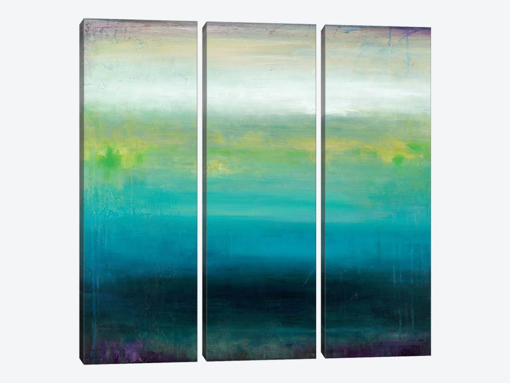 Purple Rain by Wani Pasion 3-piece Canvas Art Print